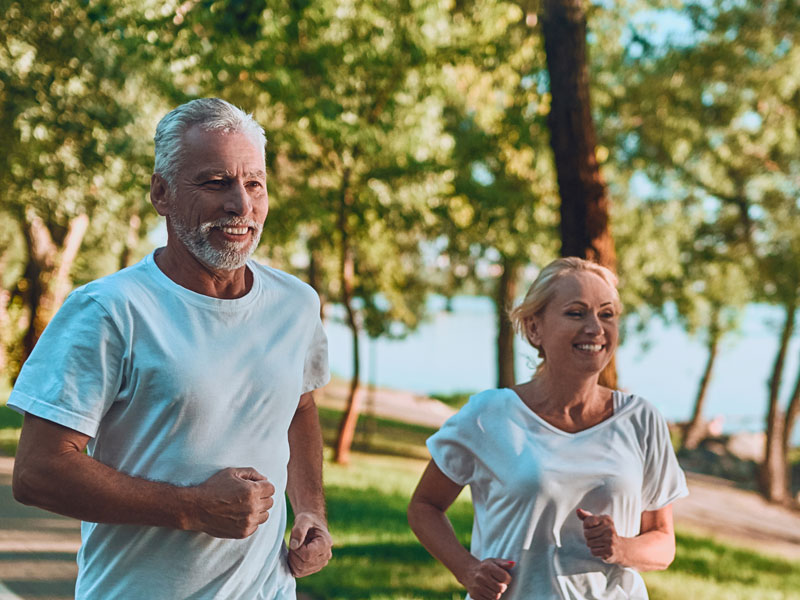 people running from gum disease to periodontal treatment at dentist in Waterlooville